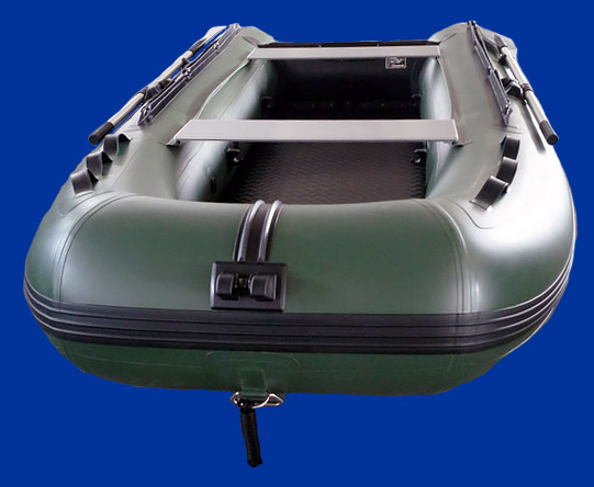 Bateau fond gonflable vert Charles Oversea 3.0ci
